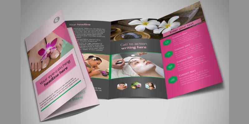 in brochure quảng cáo
