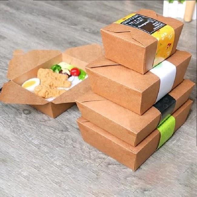 in hộp thức ăn nhanh