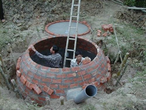 cách làm hầm biogas cải tiến rẻ tiền